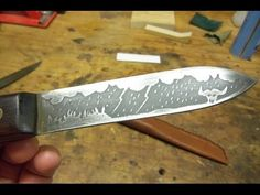 """ACID ETCHING KNIVES. """"HOW TO"""" - YouTube"""