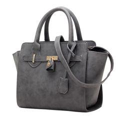 2016 Women Lock Nubuck Leather Handbags Trapeze Bag Fashion Ladies Famous Brand Portable Purses Luxury Shoulder Bags Sac Marque