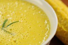Maïs soep met gember en komijn