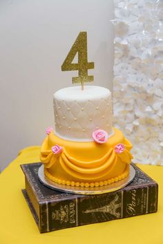 Just look how gorgeous this Beauty and the beast Cake is!!! Wow!! See more party ideas and share yours at CatchMyParty.com