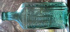 Roger's Liverwort Tar & Canchalagua Old Medicine Bottles, Antique Glass Bottles, Vintage Bottles, Bottles And Jars, Glass Collection, Bottle Art, Colored Glass, Vintage Antiques, Glass Art