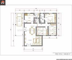 Casa 2 Quartos - 100m²