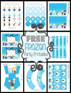 Free Frozen Party Printables (these would be fun to use the weekend we go see the movie!!)