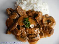 Dobrou chuť: Hovězí Stroganov Czech Recipes, Pork, Beef, Chicken, Foods, Stroganoff Recipe, Recipies, Kale Stir Fry, Meat