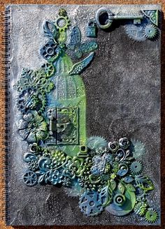 Bella's Scrappin' Space: Finnabair style journal cover; Mar 2015