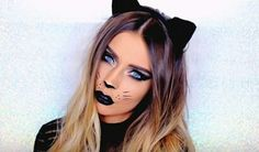 12 last minute easy halloween makeup ideas you can do yourself cat black cat and costume image solutioingenieria Images