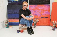 """Rosalyn Engelman Art """"'A Colorist Supreme', Rosalyn Engelman celebrates 'art as a continuum' in her work as a painter and sculptor.""""  - Karen McCally, Rochester Review, May-June 2009"""