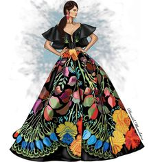 Fouad Sarkis Couture by David Mandeiro Illustrations. Dress Design Sketches, Fashion Design Sketchbook, Fashion Design Drawings, Fashion Sketches, Fashion Figure Drawing, Fashion Drawing Dresses, Dress Illustration, Fashion Illustration Dresses, Fashion Illustrations