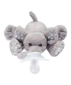 Nookums Paci-Plushies Elephant Buddies - Pacifier Holder (Plush Toy Includes Detachable Pacifier, Use with Multiple Brand Name Pacifiers) - Baby Care Corner Shower Bebe, Baby Shower, Baby Elefant, Pacifier Holder, Everything Baby, Baby Needs, Baby Time, Our Baby, Baby Baby