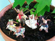 Familia de conejitos por Inés Moreno