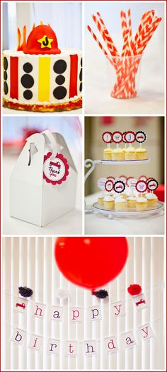cute cake idea and cupcake tags (if that's what you call them)