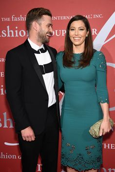 Justin Timerlake and Jessica Biel attend the 2015 Fashion Group International Night Of Stars Gala at Cipriani Wall Street on October 22, 2015 in New York City.