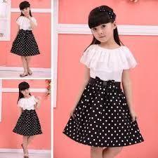 Resultado de imagen para vestidos para niña de 12 años Kids Pageant Dresses, Girls Dresses, Cheap Dresses, Cute Dresses, White Polka Dot Dress, Frack, Girls World, Birthday Dresses, Little Dresses