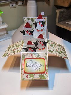 Calla Lily Studio Blog: Card in a Box! with instructions and a link to a video.