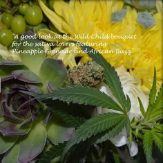 Buds and Blossoms: Cannabis Bouquets for Wedding Parties by Bec Koop  #StonedReviews #420Wedding #StonerWedding #MarijuanaWedding #CannabisWedding #HerbalWedding #Weeding #WeedWedding