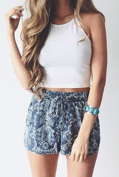 tribal print shorts #forever21