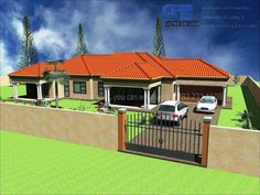 Overall Dimensions- x m Bedrooms- 2 Car Garage Area- Square meters 4 Bedroom House Plans, My House Plans, Garage House Plans, Family House Plans, Single Floor House Design, Home Design Floor Plans, Small House Design, Single Storey House Plans, One Storey House