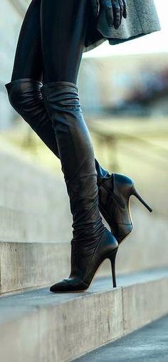 Sensational Black Leather Boots