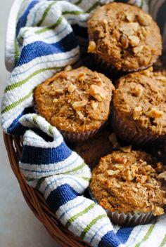 Maple-Pecan Bran Muffins by Foxes Love Lemons