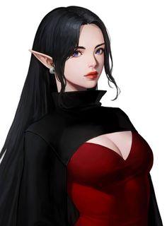 f High Elf Wizard Robes Cloak portrait urban City Tower lg Fantasy Girl, Fantasy Women, Fantasy Characters, Female Characters, Character Inspiration, Character Art, Elfa, Beautiful Anime Girl, Fantastic Art