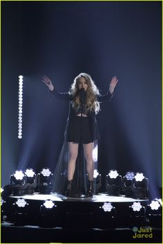 Sabrina carpenter at the radio Disney music awards ( rdmas ) singing her two songs we'll be the stars and eyes wide open!