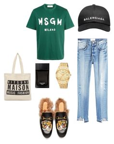 """""""Untitled #32"""" by rayensulistiawan on Polyvore featuring MSGM, Frame, Gucci, Maison Kitsuné, Balenciaga and Tom Ford"""