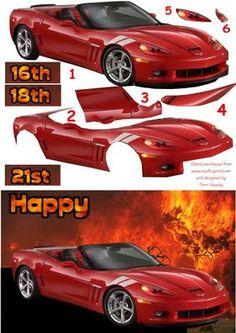 red car 21 on Craftsuprint - Add To Basket!