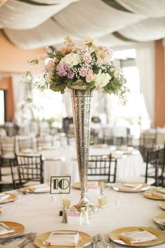 Gatsby Wedding Centerpieces | Great Gatsby Inspired Galveston Wedding from Mustard Seed Photography
