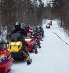 X  Snowmobiling in Wisconsin