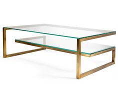 The Bronx Coffee Table | Villiers.co.uk THE BRONX COFFEE TABLE Vintage brass finish with 2 x 10mm low-iron glass surfaces. Dimensions: h420mm x w1200mm x d800mm