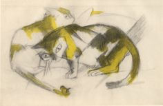 Franz Marc - Two Cats