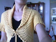 How do it - Bolero in knitting & crochet Diy Crochet Clothes, Crochet Hooks, Knit Crochet, Crochet World, Crochet Projects, Knits, Needlework, Free Pattern, Fashion Outfits