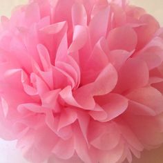 "10"" Tissue Pom Poms Party Decoration Paper Pompom Baby Shower Pompoms Tissue Poms Wedding Decorations Ceremony Decor  Pink Tissue Paper on Etsy, $3.00"