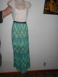 Attractive Sleeveless Dress NEW Full Length Maxi Dress & Belt SIZE Small Women's #AsUWish #Sundress #Casual