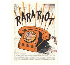 Two Arms Inc. - Ra Ra Riot Fall Tour #poster / http://twoarmsinc.com