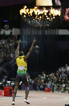 Usain Bolt, Olympic Champion 2008 Olympics in Beijing for 100m, 200m, and 4x100m. Olympic Champion for 2012 Olympics in London for 100m, 200m and 4x100m