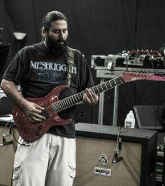 Stephen Carpenter live. Awesome Meshuggah shirt.