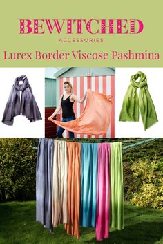 Print is everywhere this Spring and Summer so here we have the ideal accessory - a lovely large solid colour scarf with just a hint of sparkle for cool summer days or balmy Mediterranean evenings. In 6 gorgeous colours