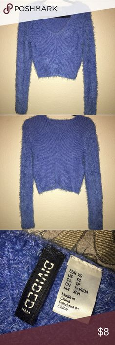 H&M Divided Sweater H&M Blue Divided Sweater material feels amazing! Never worn. Can defiantly fit a Small H&M Sweaters