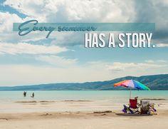 Every Summer Has A Story -Bear Lake Utah color postcard by BearLakeArt on Etsy