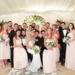 Lauren Conrad and Husband Taking Photo with Bridesmaid and Groomsmen