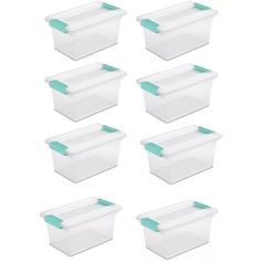 Sterilite Corporation Sterilite Clear Tote with Latching Lid at Lowe's. The Sterilite Medium Clip Box is a great solution for storing and organizing smaller items in the home and office. The clear base and lid allow contents