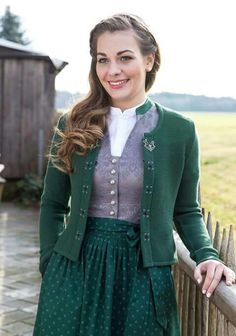 I love the modest tailored bodice on this dirndl, a lovely cut with beautiful embroidered detail