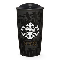 A double-walled, ceramic travel mug that celebrates the street art of New York City in all five boroughs, part of the Starbucks Dot Local Collection.
