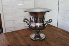 Classic silver ice bucket-  Southern Vintage Wedding Rental