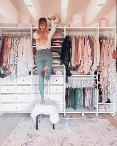Attractive Dressing Room Design Ideas for Inspiration 26 - # Dressing Room # An . - Attractive Dressing Room Design Ideas for Inspiration 26 – - Wardrobe Room, Walk In Wardrobe, Wardrobe Design, Wardrobe Closet, Master Closet, Closet Bedroom, Wardrobe Furniture, Bedroom Storage, Ikea Closet