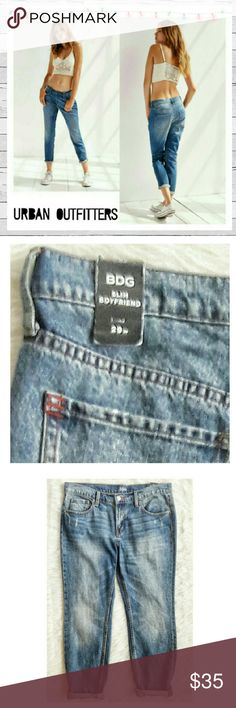BDG Slim Boyfriend Jeans NWT Sz 29 Awesome Slim Boyfriend jeans by BDG at Urban Outfitters in Sz 29. Slouchy fit, slimmer through leg. Excellent new with tags condition. Heavy distress. Just great jeans! Sorry no trades. Urban Outfitters Jeans Boyfriend