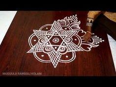 Small Rangoli Design, Rangoli Kolam Designs, Rangoli Designs Images, Beautiful Rangoli Designs, Henna Art Designs, Mehandi Designs, Henna Candles, Padi Kolam, Muggulu Design