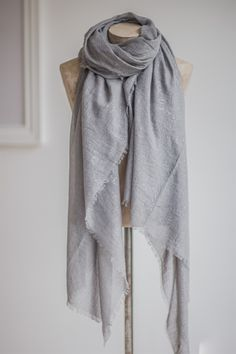 The Little Black Dress Boutique Limited. Tutti & Co Grey + Silver Metallic Scarf - S091