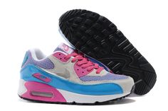 Women's Nike Air Max 90 A  White  Pink Purple|only US$89.00 - follow me to pick up couopons.